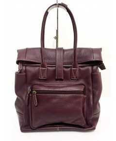 กระเป๋าเป้หนังวัวแท้ Tlux item ZH023  สีม่วง