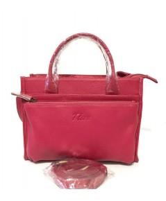 กระเป๋าหนังวัวแท้ Tlux item QH00 Size M สีชมพู