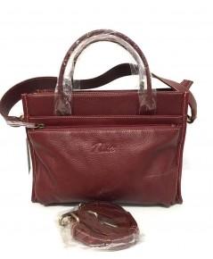 กระเป๋าหนังวัวแท้ Tlux item QH00 Size M สีม่วง