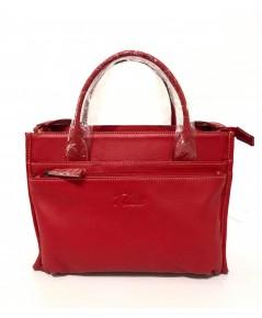 กระเป๋าหนังวัวแท้ Tlux item QH00 Size M สีแดง