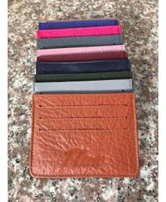 กระเป๋าใส่บัตรหนังวัวแท้ Tlux item No.01 สีแทน