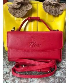 กระเป๋าสตางค์หนังวัวแท้ Tlux item No.68 สีชมพู