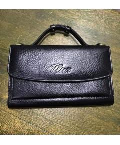 กระเป๋าสตางค์หนังวัวแท้ Tlux item No.68 สีช๊อกโกแลต