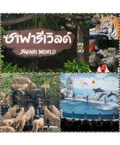 บัตรซาฟารีเวิลด์ (Safari World) แบบ 2 โซน