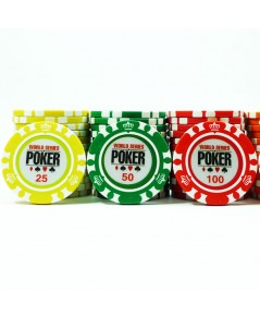 ชุดเหรียญโป๊กเกอร์ ชิพโป้กเกอร์ 300 เหรียญ รุ่น World Series Poker 13.5 g (poker chip เหรียญคาสิโน)