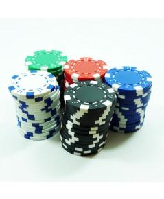 ชุดเหรียญคาสิโน เหรียญโปกเกอร์ 300 เหรียญ รุ่น Dice Chip 5 สี (ชิพโป้กเกอร์ poker chip)
