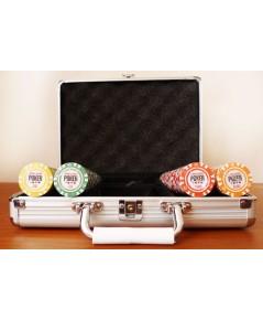 ชุดชิพคาสิโน ชิพโป้กเกอร์ รุ่น World Poker Series 200 เหรียญ