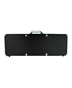 กระเป๋าอลูมิเนียมสำหรับใส่เหรียญโป๊กเกอร์ 500 เหรียญ รุ่น Super Black Aluminium