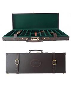 Premium Leather Casino Chip Case 500 เหรียญ