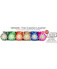 เหรียญคาสิโน ชิพโป๊กเกอร์ 500 เหรียญรุ่น Lasvegas VIP Club
