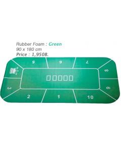 Rubber Foam สีเขียวแบบเหลี่ยม สำหรับปูโต๊ะโป้กเกอร์ Foam Poker Table Top
