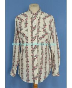 เสื้อกระดุมมุก Cowhand Pearl Snap Men Western Shirt Floral Printed L
