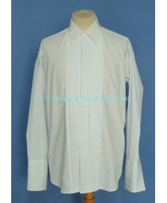 เสื้อทักซิโด้เบอร์เบอรี่ BURBERRY Tuxedo French Cuff Men Dress Shirt White 15.5-34