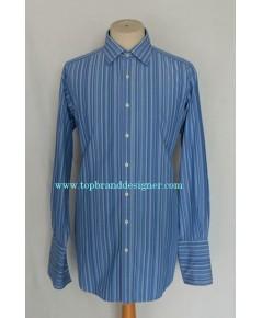 เสื้อทำงานแขนคัฟลิ้งค์ Thomas Pink French Cuff Men Dress Shirt Stripes 16.5-35