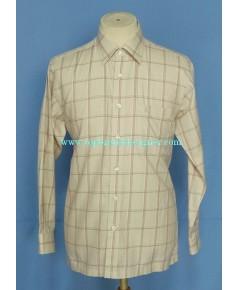 เสื้อเชิ้ตแบรนด์เนม DAKS Mens Used Designer Shirt Plaid M