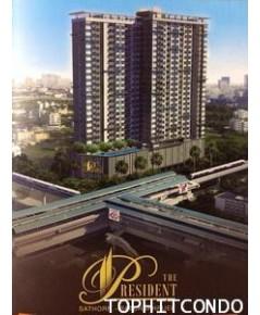 คอนโด The President Sathorn-Ratchapruek ให้เช่าห้องแบบ 1 ห้องนอน ขนาด 30 ตร.ม. ชั้น 22 ทิศศตะวันตก