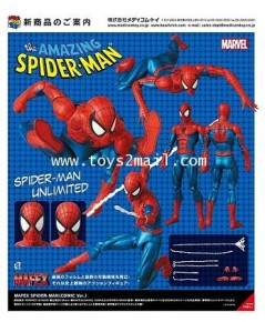 MARVEL : MAFEX 075 THE AMAZING SPIDER-MAN (Comic Ver.) ล๊อตญี่ปุ่น [2]