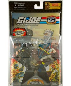 G.I. Joe : 25th ANNIVERSARY SNAKE EYES vs STORM SHADOW 2 PACK COMIC [RARE] [1]