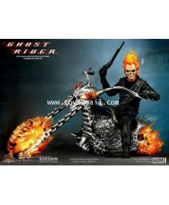 HOT TOYS : MMS-133 GHOSTRIDER + HELL CYCLE 1/6 SCALE Limited Edition 12 inch Collectible Figure [1]