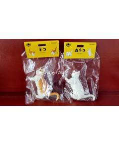 KAIYODO : Sofubi Toy Box [016A Cat] + [016B White Cat] Munchkin Sofubi Figure ชุดแมวครบชุดหายาก [1]