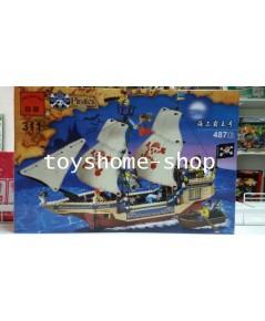 เลโก้จีน เลโก้เรือโจรสลัดธงขาว 487 ฃิ้น (311-E)