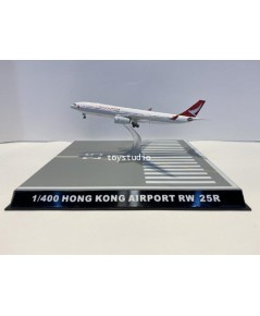 FantasyWings 1:400 Hong Kong Airport Runway 25R Display Stand With Case Cover SC4036