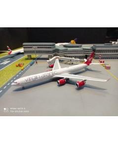 P4389 1:400 Virgin Atlantic A340-600 G-VRED [Width 16.5 Length 19 Height 4 cms.]