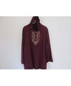 เสื้อ คนอ้วน ไซส์ใหญ่พิเศษ มีฮู้ด มีขนาด ( 56-58  นิ้วยาว 31 นิ้ว) ราคาถูก