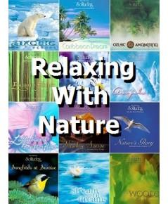 Relaxing With Nature Vol.1-12 (CD Mp3 ชุด 2แผ่น) ดนตรีบรรเลงผสานเสียงธรรมชาติ โดย Gordon Gibson