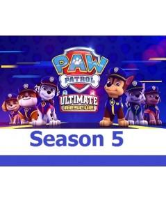 Paw Patrol Season 5 (พากย์อังกฤษ/ไม่มีซับอังกฤษ) DVD 3 แผ่น 18 ตอน จบซีซั่น 5