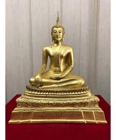 พระบูชาชินสีห์ ๘๐ พรรษา สมเด็จพระญาณสังวร สมเด็จพระสังฆราช ทองเหลืองปิดทอง หนั (เช่าบูชาไปแล้ว)