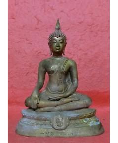 พระบูชาพุทธชินสีห์ สก. ขนาดหน้าตัก 3 นิ้ว  วัดบวรนิเวศวิหาร ปี พ.ศ. 2535 งามและหายากสุดๆ
