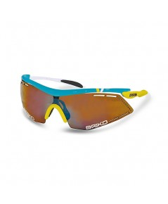 แว่นตา BRIKO รุ่น Endure Pro Team สีฟ้า/ขาว/เหลือง