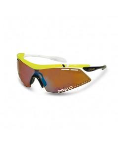 แว่นตา BRIKO รุ่น Endure Pro Team สีเหลือง/ดำ/ขาว
