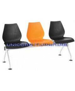 เก้าอี้โพลี แบบแถว ชนิด 2ที่นั่ง 3ที่นั่ง 4ที่นั่ง รุ่น UN-805