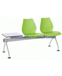 เก้าอี้โพลี แบบแถว ชนิด 2ที่นั่ง รุ่น UN-806