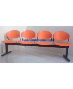เก้าอี้แถว แป๊ปรูปไข่ แบบ 4ที่นั่ง รุ่น CLF-714-4S