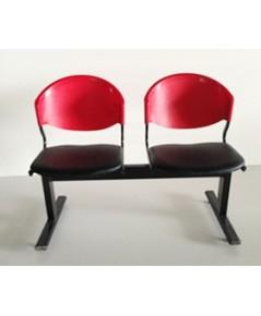 เก้าอี้แถวเบาะนวม2ที่นั่งรุ่น CLF7PV