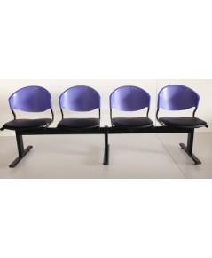 เก้าอี้แถวเบาะนวม4ที่นั่งรุ่น CLF7PV-4
