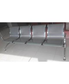 เก้าอี้แถวที่นั่งโครงเหล็กแผ่นปั้มขึ้นรูป ชนิด 4 ที่นั่งรุ่น UIM-008-4