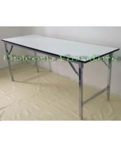 โต๊ะขาพับ โต๊ะประชุม Conference table โต๊ะหน้าขาว แบบเหลี่ยม หนา 25 มิล