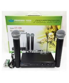 Wireless Microphone EUROTECH ET-199B ถือคู่ VHF