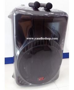 ตู้แอมป์ 12 นิ้ว NPE รุ่น MK-12BAT BLUETOOTH (ไมค์ลอย2ตัว/แบตแห้ง/USB/SD CARD)