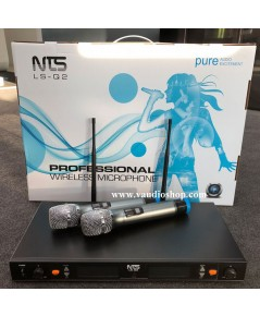 Wireless Microphone NTS LS-Q2 ถือคู่ UHF ปรับความถี่ได้