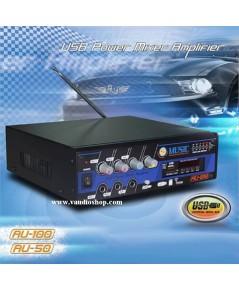 เครื่องขยายเสียง DC ติดรถยนต์ 50W MUSIC รุ่น AU-50 USB