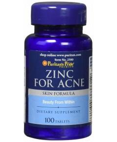Puritan\'s Pride Zinc For Acne (100 เม็ด) วิตามิน สำหรับดูแลรักษาสิว ราคาส่ง ถูกที่สุด xxx รีวิว