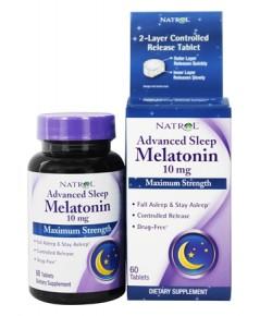 Natrol, Advanced Sleep Melatonin, Maximum Strength, 10 mg, 60 Tablets
