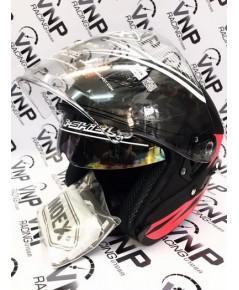 หมวกกันน็อคเปิดหน้า INDEX รุ่น ASTRO สีดำด้าน ไซค์ L