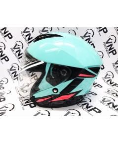 หมวกกันน็อคเปิดหน้า INDEX รุ่น ASTRO สีฟ้า ไซค์ L