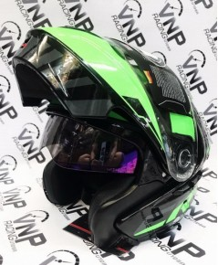 หมวก REAL รุ่น Cosmo R Droid ยกคาง ดำ-เขียว